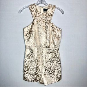 AX Paris Metallic Jacquard Romper